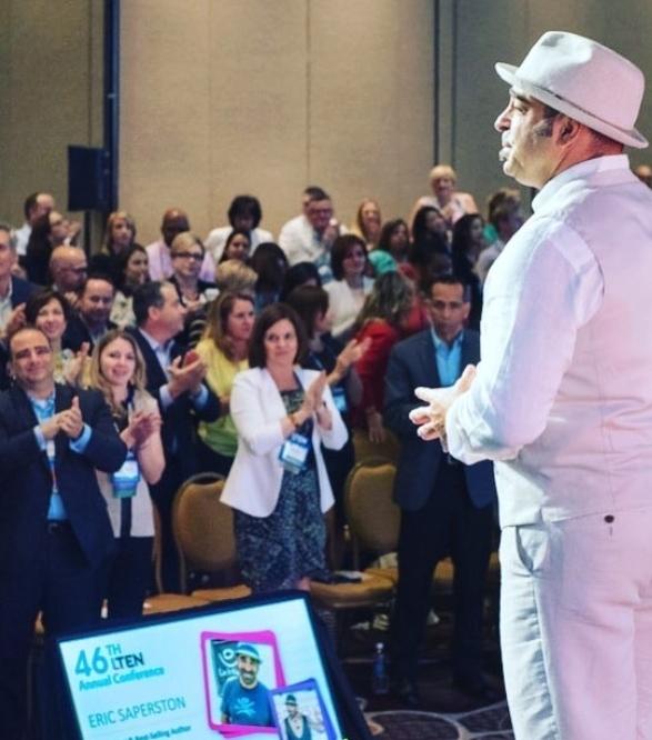 Eric Saperston Keynote Speaker Standing Ovation